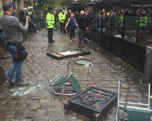Bijatyka w Manchesterze. Aresztowani Polacy? [video]