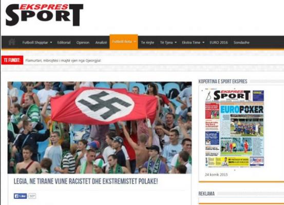 Legia protestuje przeciw oskarżaniu o nazizm