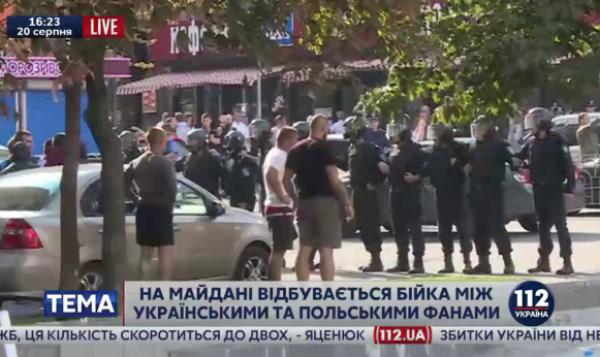 Zamieszki przed meczem Legii [video]