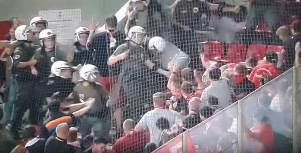 Bójka kibiców Bayernu z grecką policją [video]