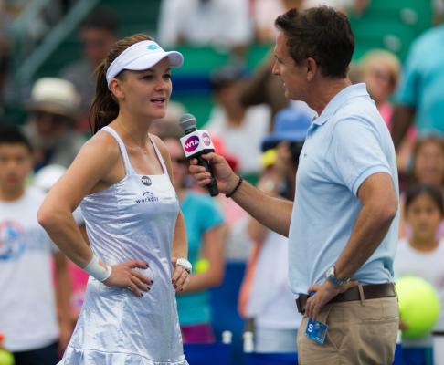 Radwańska: Miałam wrażenie, jakbym grała sama ze sobą