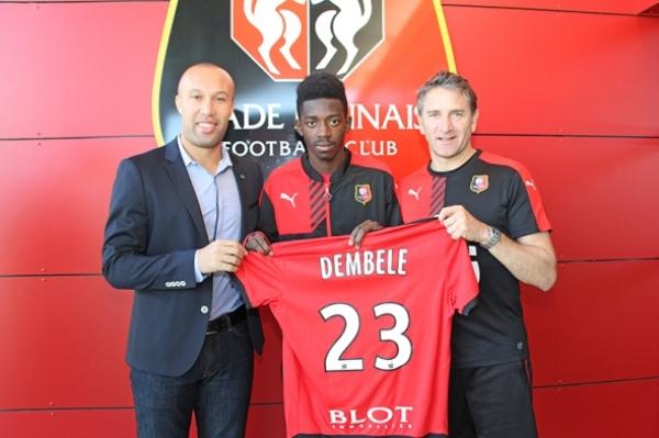 Dembele trzy lata dłużej w Rennes