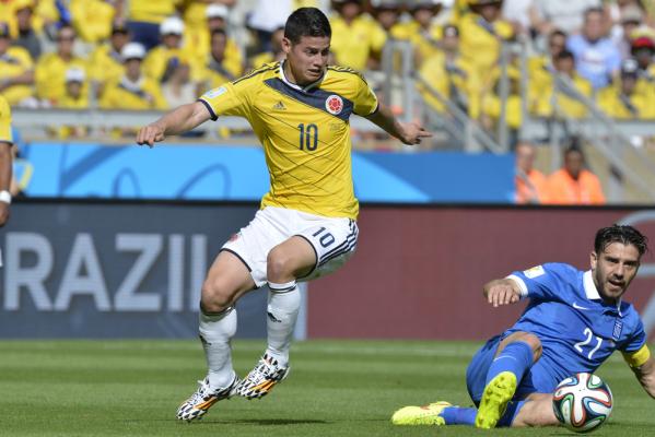 James Rodriguez poprowadził Kolumbię do zwycięstwa z Paragwajem