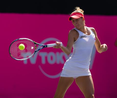 Magda Linette przegrała w deblu i pożegnała się z US Open