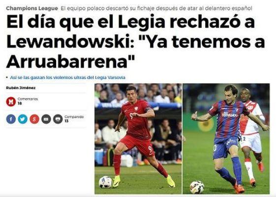 Dziennik z Madrytu kpi z Legii - przypomina wpadkę z Lewandowskim
