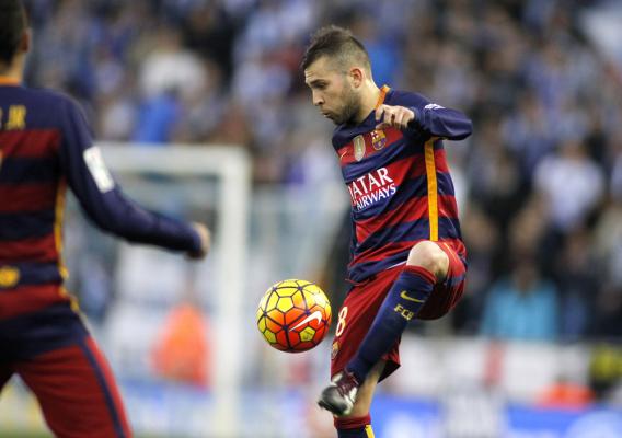 Jordi Alba nie zagra przynajmniej dwa tygodnie