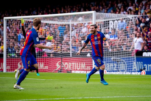 Messi znowu strzela z wolnego i zapewnia Barcelonie awans [VIDEO]