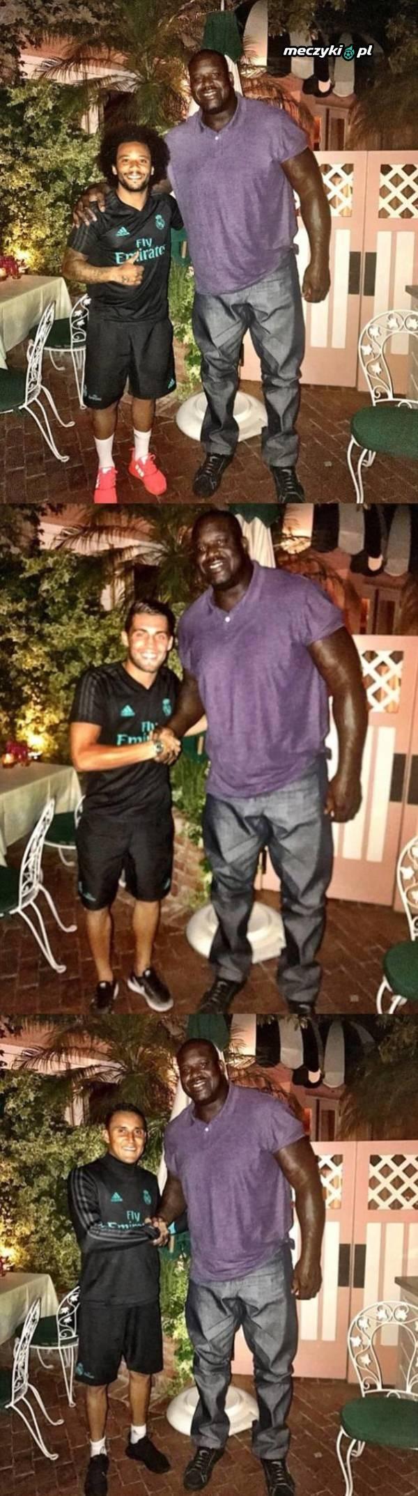 Shaq i piłkarze Realu