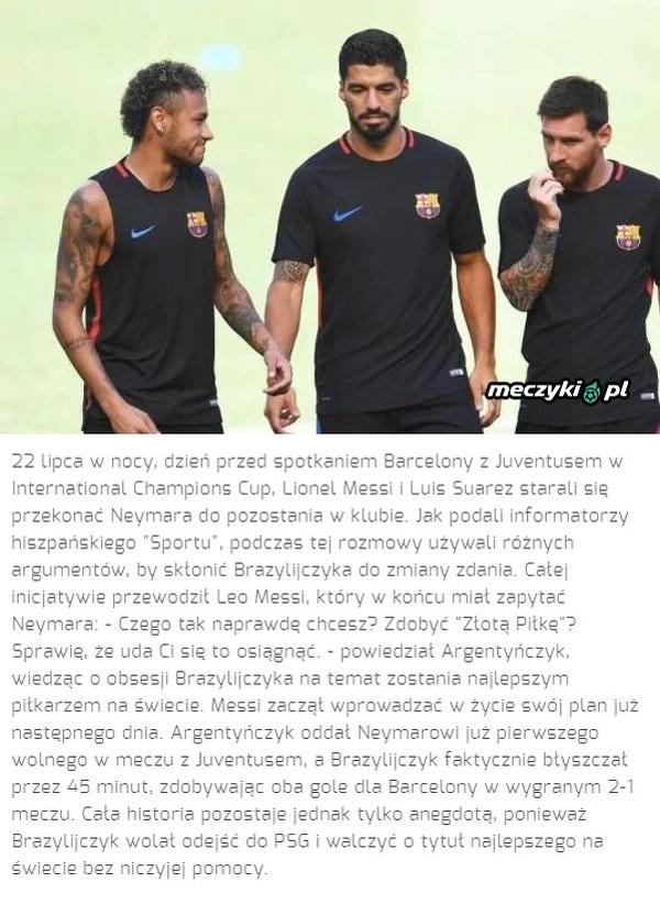 Jak Messi próbował przekonać Neymara do pozostania