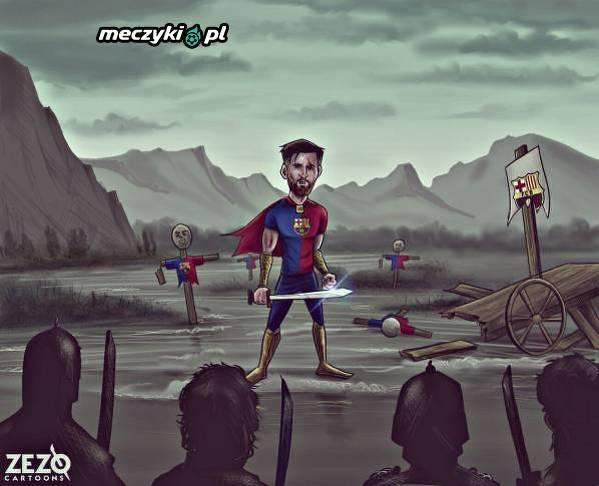 Messi sam na placu boju