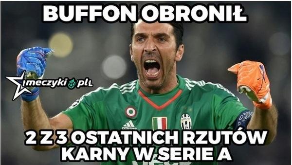Buffon świetnie broni karne w Serie A