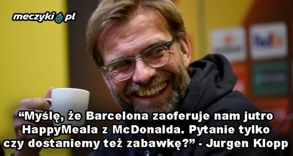 Klopp wyśmiewa działania Barcelony