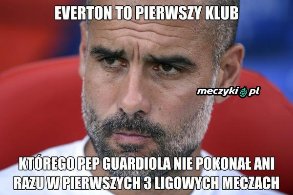 Guardiola nie może pokonać Evertonu
