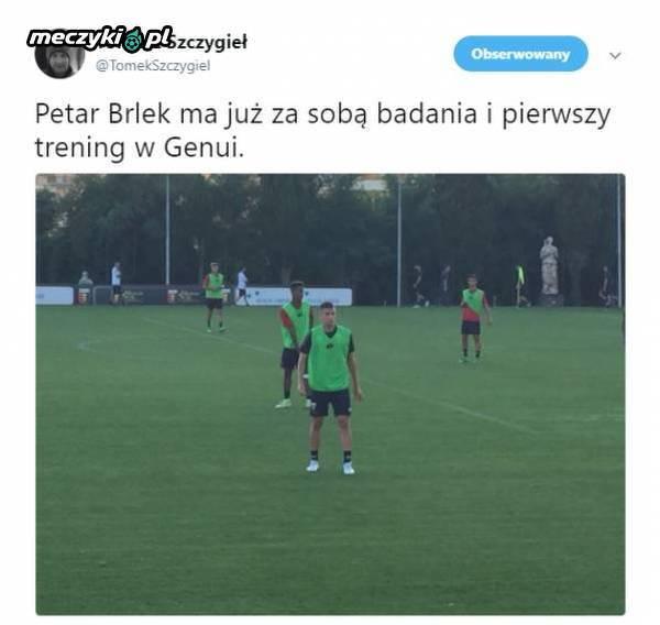 Petar Brlek już trenuje w Genui