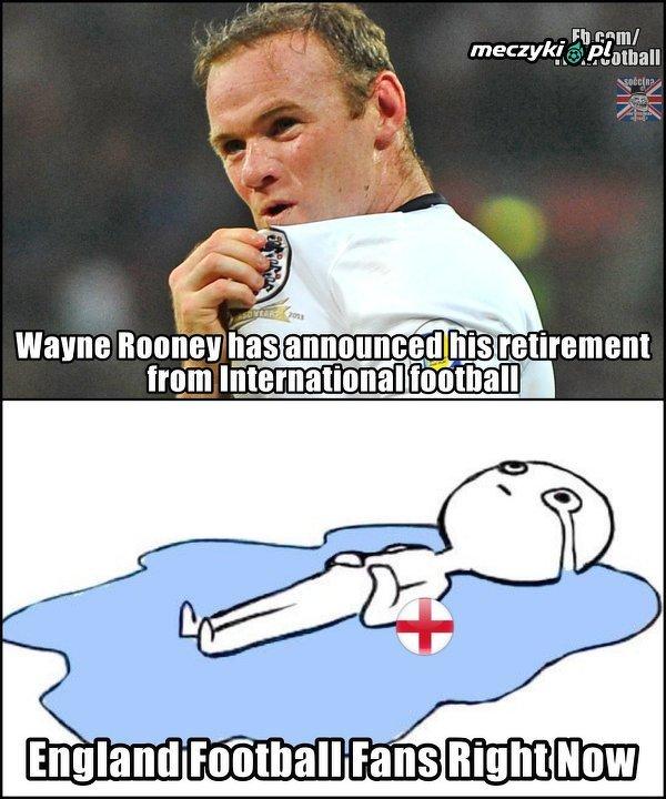 Angielscy kibice po decyzji Rooneya