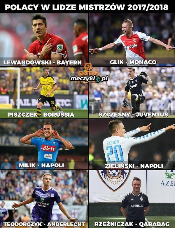 Polacy w Lidze Mistrzów 2017/18