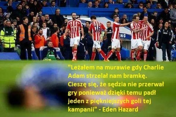 Eden Hazard o bramce Adama