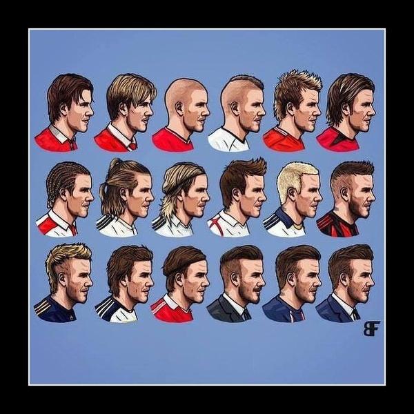 Ewolucja fryzury Beckhama