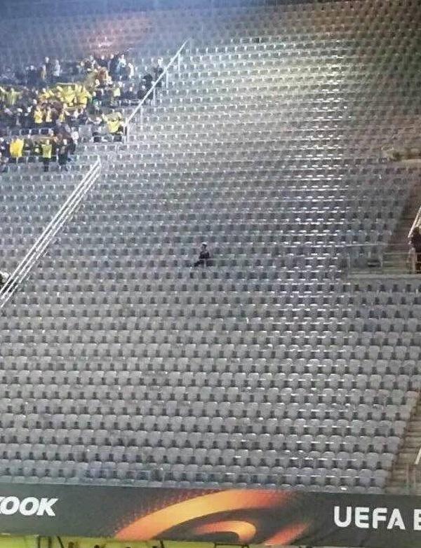 Jedyny fan Gabali w Dortmundzie
