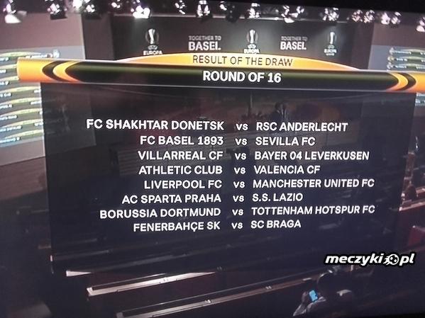 Pary 1/8 Finału Ligi Europy!