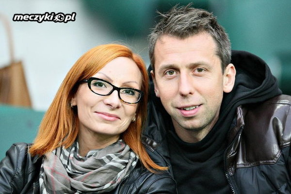 Jakub Wawrzyniak z żoną