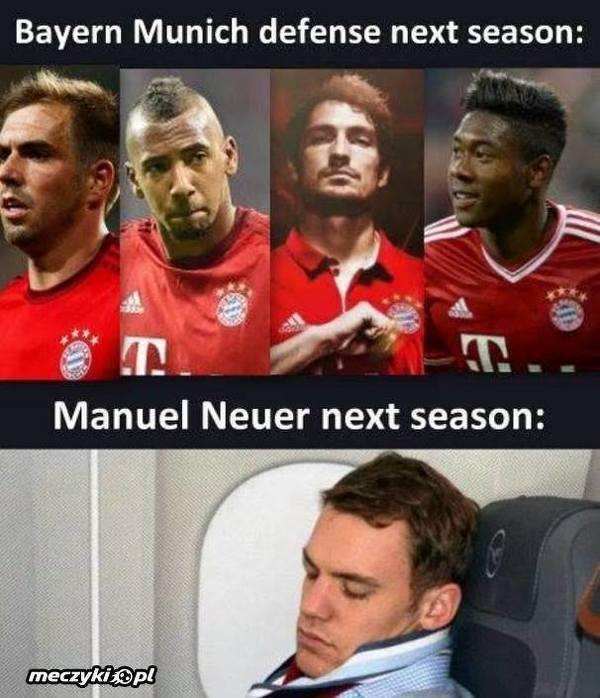 Obrona Bayernu w przyszłym sezonie