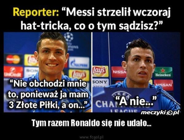 Tym razem Ronaldo się nie udało...
