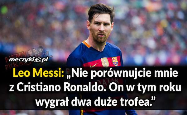 Messi podsumował wygraną Ronaldo