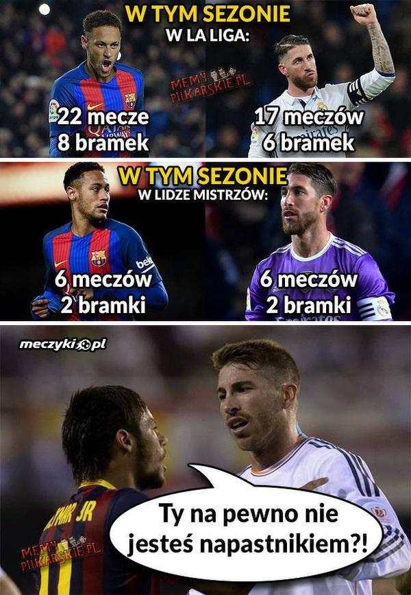Neymar vs Ramos w tym sezonie