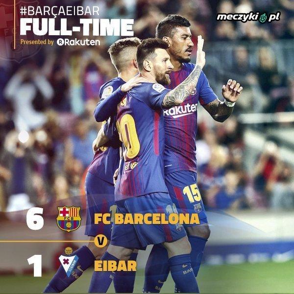 Barcelona pewnie pokonała Eibar