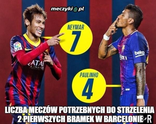 Co za porównanie Neymara i Paulinho