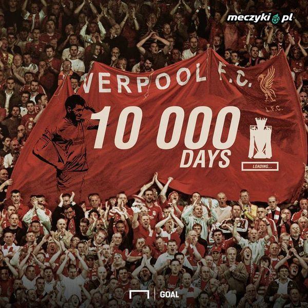 Kibice Liverpoolu tyle już czekają na tytuł w Premier League
