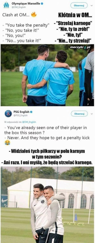 PSG trolluje Olympique Marsylię