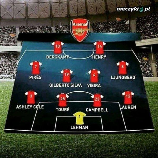 Ostatni skład Arsenalu, który wygrał Premier League