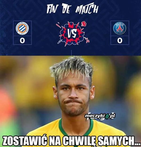 PSG bez Neymara zremisowało z Montpellier