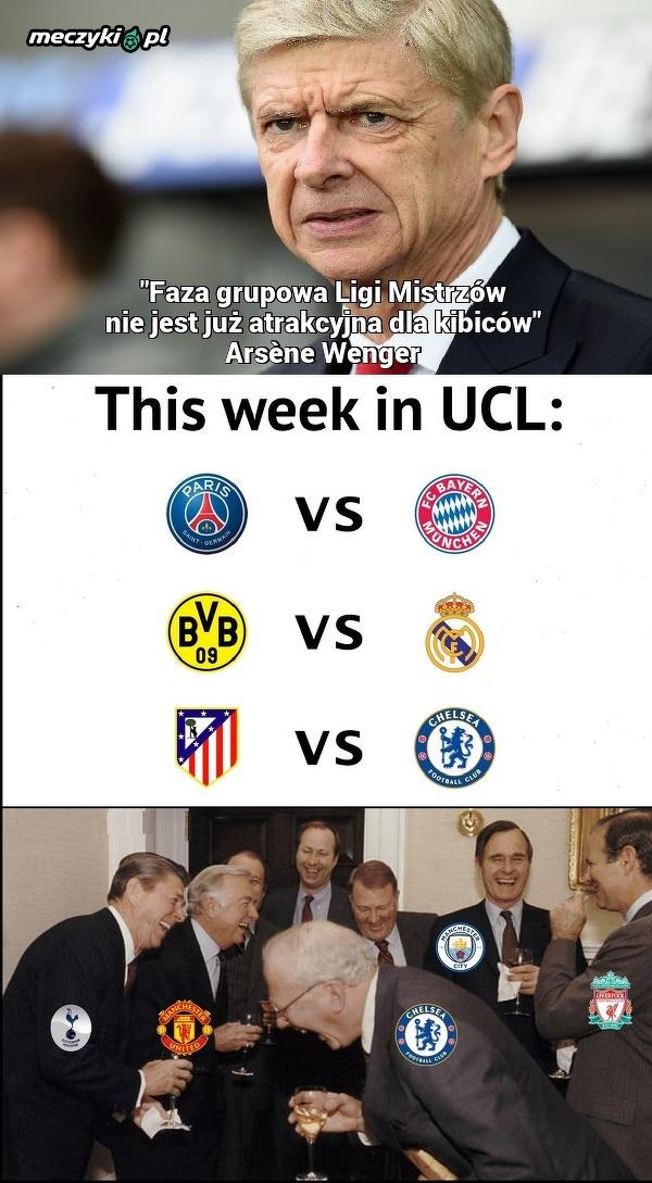 Wenger o Lidze Mistrzów