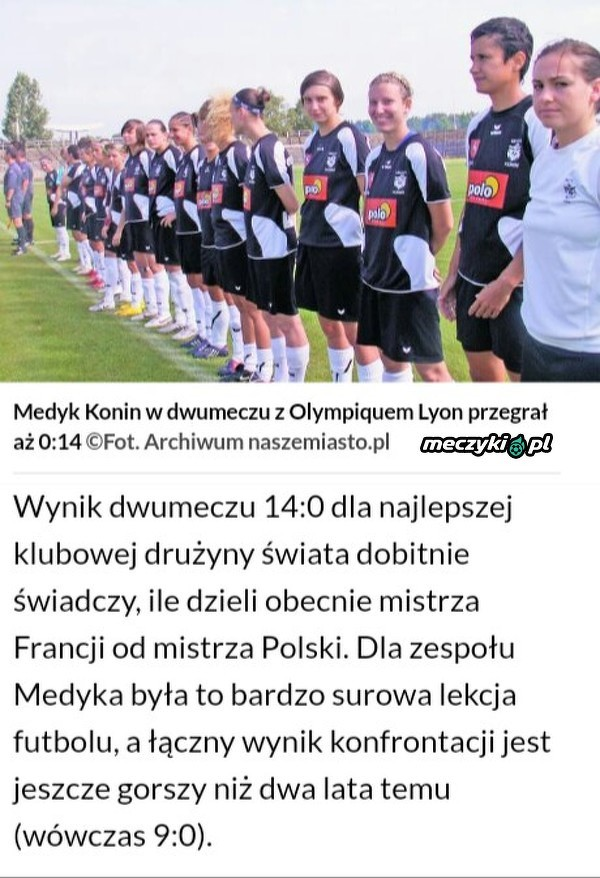 0:14 - tyle dzieli mistrza Polski od mistrza Francji