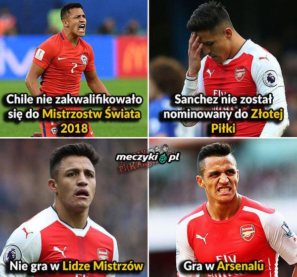 Sanchez nie ma ostatnio szczęścia