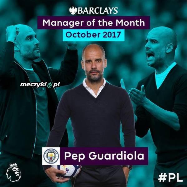 Guardiola trenerem października w PL