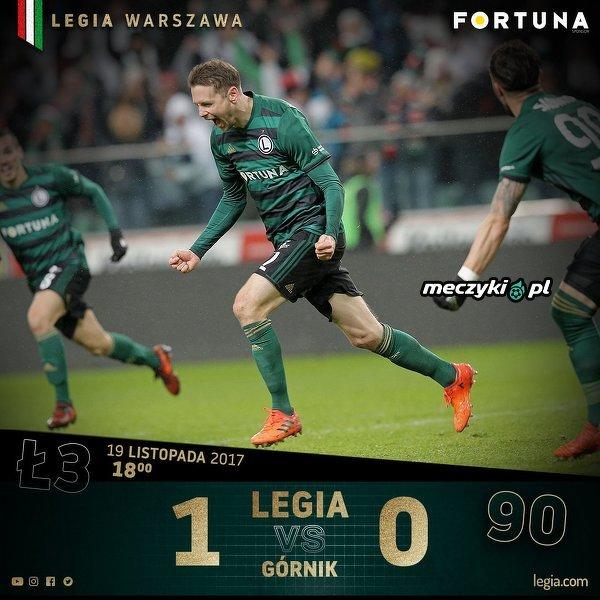 Legia nowym liderem Ekstraklasy
