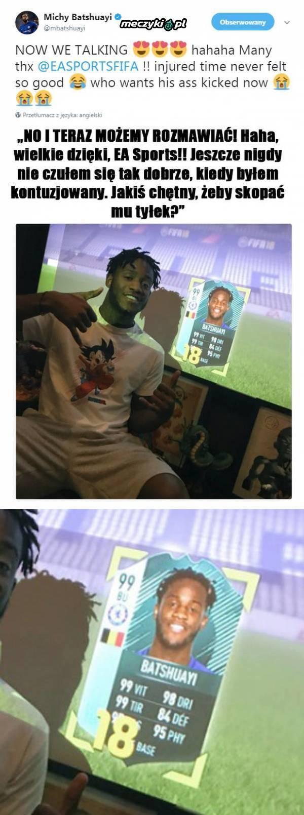 Batshuayi dostał prezent od EA Sports