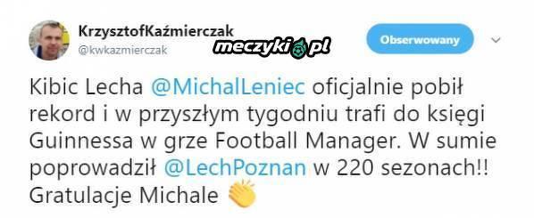 Kibic Lecha pobił rekord w FM-ie