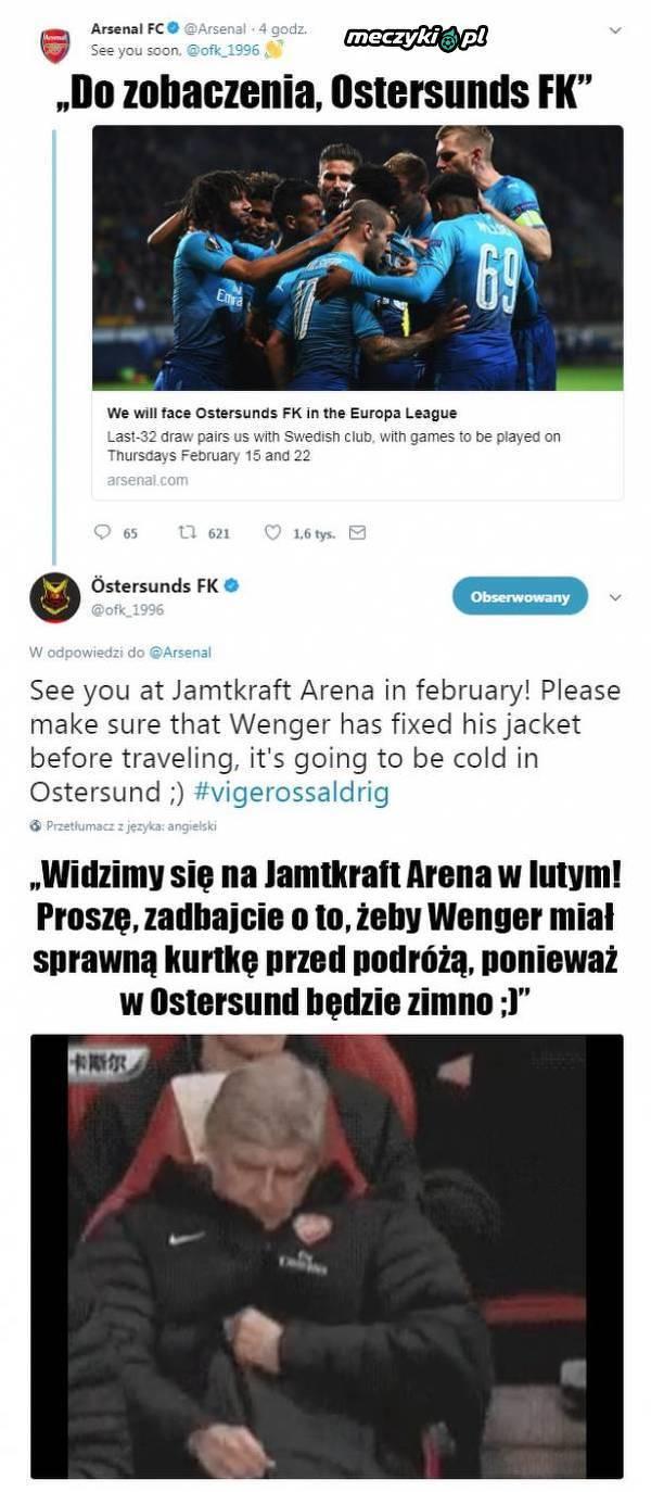Ostersunds FK trolluje Arsene Wengera