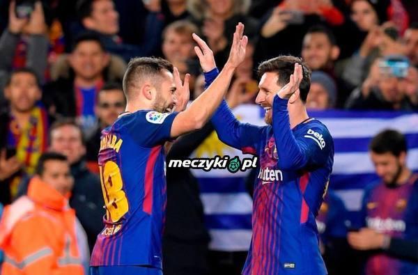 2 gole Messi, dwie asysty Alba. Alba gol, asysta Messi