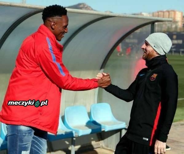 Leo Messi powitał Yerry'ego Minę w Barcelonie