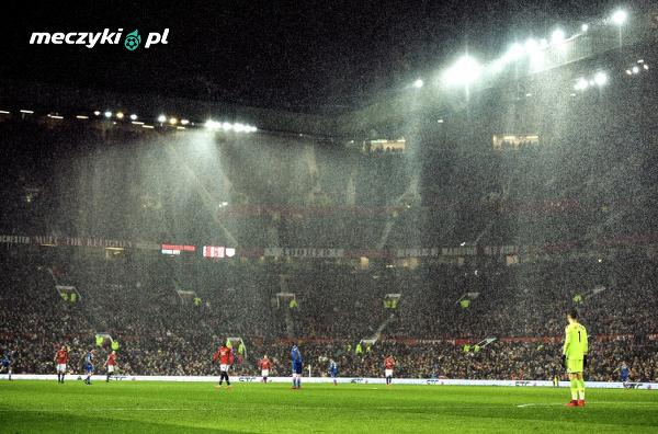 Old Trafford podczas meczu ze Stoke