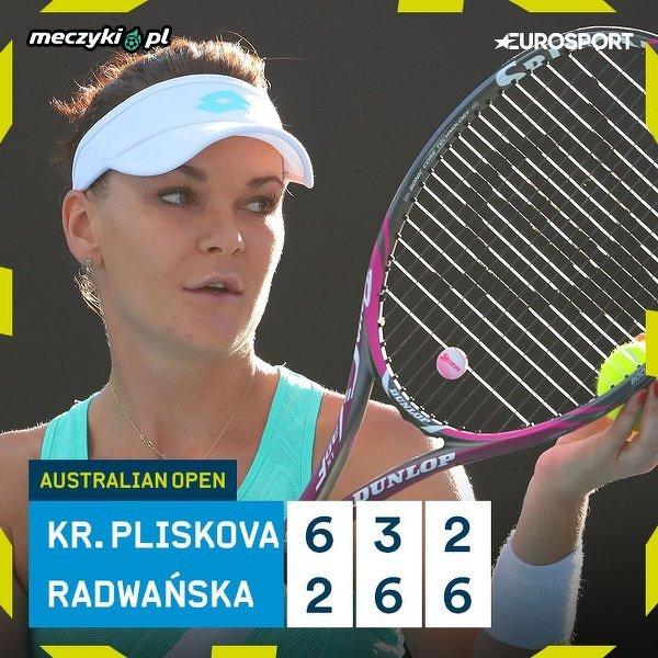 Radwańska w drugiej rundzie AO