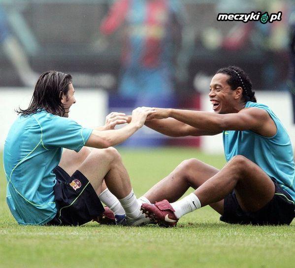Messi z nauczycielem