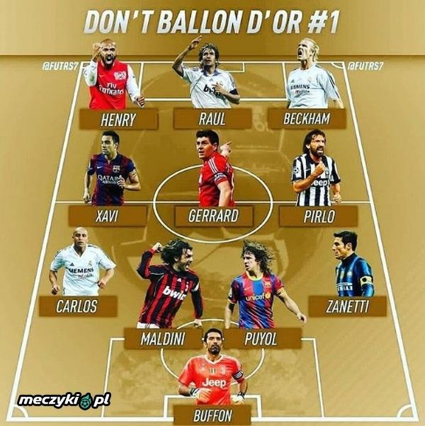 Jedenastka genialnych piłkarzy bez Złotej Piłki
