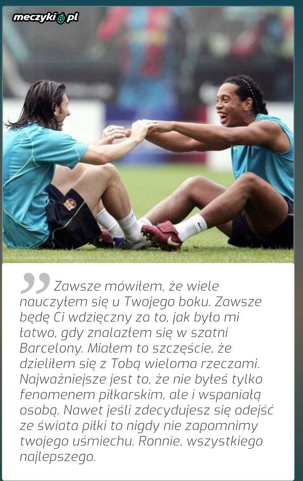 Messi podziękował Ronaldinho